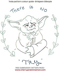 May the 4th - Free Star Wars embroidery pattern by CherryandCinnamon.com