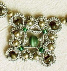 bijoux frivolite - macrame