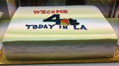 #NBC4LA welcome cake Bakery, Cream, Desserts, Food, Creme Caramel, Tailgate Desserts, Deserts, Essen, Postres