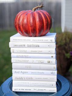 Book Centerpieces, Wedding Centerpieces, Nancy Demoss, Paula White, Modern Books, White Books, Anne Of Green Gables, Mantels, Vintage Books