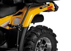 ATV Beifahrer Fußrasten für Can Am Outlander 800 u.1000 G2 Rahmen ATV Fußstützen Bietet festen halt für den Beifahrer hinten Wird fest am Gepäckträger montiert Einfach zu installieren Inklusive Montagematerial beide Seiten im Set