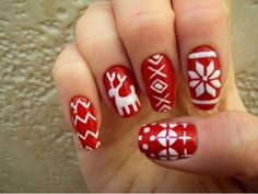 Here is Christmas Nail Art Designs Picture for you. Christmas Nail Art Designs christmas nail art designs to look trendy t. Chrismas Nail Art, Cute Christmas Nails, Holiday Nail Art, Xmas Nails, Christmas Nail Designs, Christmas Christmas, Christmas Fashion, Christmas Sweaters, Christams Nails