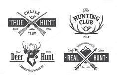 Vintage Hunting Emblems