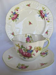 Shelley Teacup, Saucer and Plate