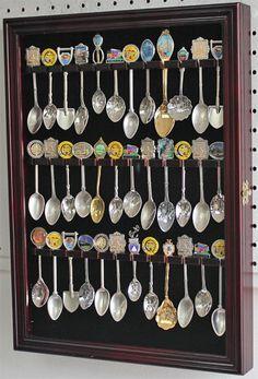 36 Spoon Rack Display Case Holder Cabinet, with door: SP01