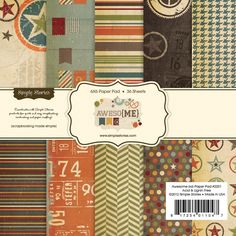Simple Stories - Awesome Collection - 6 x 6 Paper Pad at Scrapbook.com $5.99