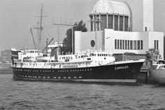 18 april 1963 Officiële proefvaart op de Noordzee van het weerschip  (Ocean Weather Ship) ms 'Cumulus' http://koopvaardij.blogspot.nl/2015/04/18-april-1963.html