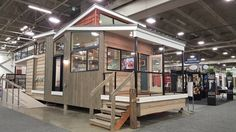 """This 400 square foot tiny house the """"Denali"""" by @utopian_villas is on display @milwaukeenari Spring Home Improvement Show. Follow along I'll be posting videos of the interior today.  #FeiaConstruction #tinyhouse #home #smallspaces #smallspaceliving #tinyhousemovement @kohlerco  #tradeshow #remodel #remodeling #renovation #reno #architecture #interiordesign #idcdesigners #interiors by susiefeia"""