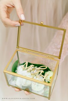 Wedding Glass Ring Box with your initials #sponsored