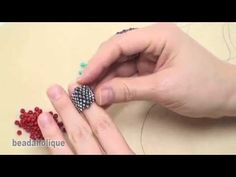 Bead Weaving with a Flat Even Count Peyote Stitch - YouTube