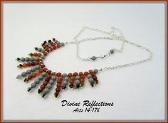 Gemstone Necklace Bib Necklace Bead Necklace by DivineReflections