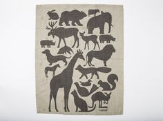 This listing is for 1 of our Animals Amassed Tea Towel. This towel has a slight flaw in printing. Please see image # 5. It is made in the USA on