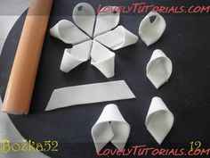 LOTS of different fondant bow techniques!