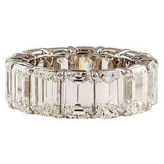 HARRY WINSTON Emerald Cut Diamond Eternity Band  WOW!!!!!