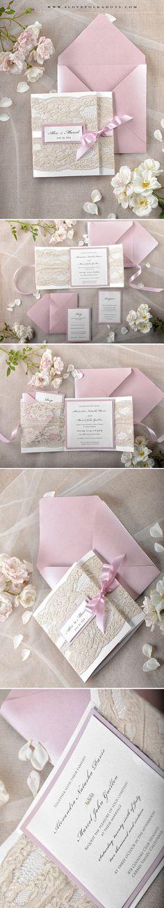 Romantic Lace Wedding Invitations #romantic #lace #weddingideas #breathtaking…