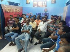 26 drivers gather in the James Long Sarani Learning Club for an engaging Safe Drive, Save Life session!
