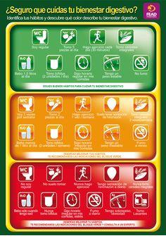 Semáforo del bienestar digestivo #verduras y #frutas #ecológicas