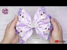 Halloween Hair Clips, Halloween Bows, Cute Crafts, Diy And Crafts, Bow Tutorial, Boutique Hair Bows, Lace Headbands, Bow Hair Clips, Youtube