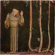 "John Bauer - Illustration for ""Broder Martin"" by Emil Eliasson (from ""Bland Tomtar och Troll""). 1913"