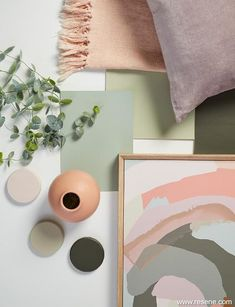 Trendy yet timeless - pinks and green shades