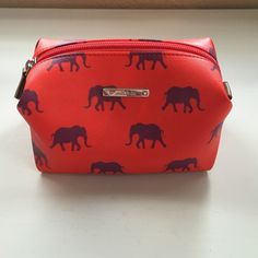 Stella & Dot Pouf Bag Like new, never used. Perfect for make up or jewelry storage. Inside is lined - rare elephant print Stella & Dot Bags Cosmetic Bags & Cases