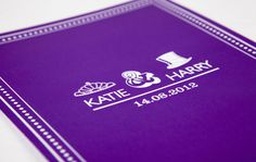 Typographic, Vintage Save the Date by Ink & Curls.