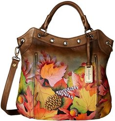 I'm not overly crazy about Anuschka Handbags, but this one is exceptionally pretty!  (#546)