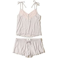 Hollister is the fantasy of Southern California, with clothing that's effortlessly cool and totally accessible. Girls Sleepwear, Striped Pyjamas, Spring Wear, Pink Stripes, Lingerie Set, Hollister, Cami, Sleep Set, Pajamas