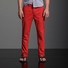 could i pull off red pants?