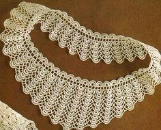 crochet beauty collars, more crochet patterns Cute Crochet, Beautiful Crochet, Knit Crochet, Crochet Chart, Crochet Patterns, Crochet Lace Collar, Collar Pattern, Crochet Videos, Bracelet Tutorial