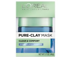 """""""L'Oréal's new mask smells like a hot guy's spicy cologne, which I've never looked for in a mask, but I cannot express how much I love that it's happening. The formula also doesn't disappoint, with a clay and seaweed combo that draws out gunk and leaves skin soothed. You coat your face in the opaque blue (it reminds me of GlamGlow's fun colors, which I'm here for), wait ten minutes, and wash off to bask in the brightened boost."""" —R.N."""