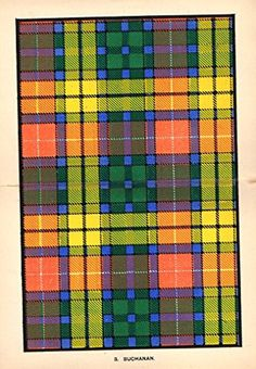 "Johnston's Scottish Tartans - ""BUCHANAN"" - Chromolithograph - c1899"