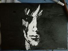 Sandman basado en referencia, realizado a pincel de marta, pincel normal y tinta. Sandman based reference. Made with sable brush, normal brush and ink. #sandman #morpheo #tinta #ink #sablebrush #normalbrush #pinceldemarta #pincelnormal #ilovemywork