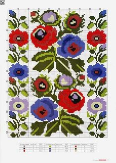 Cross Stitch Borders, Cross Stitch Rose, Cross Stitch Flowers, Cross Stitch Designs, Cross Stitching, Cross Stitch Patterns, Beaded Embroidery, Cross Stitch Embroidery, Embroidery Patterns