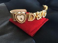 Dolce & Gabbana I Love D&G Golden Leather Belt Watch Fashion Deals, Women's Fashion, G Watch, Women's Accessories, Cuff Bracelets, Belt, Watches, My Love, Leather