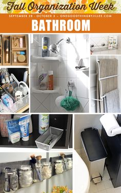 Having to deal with a disorganized bathroom first thing in the morning can influence your mood for the rest of the day! Check out these tips for a chaos-free bathroom...part of Fall Organization Week on OGT!