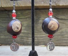 Ohio State Buckeye Earrings on Etsy, $18.00
