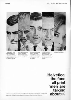 60s, 70s, advertising, black and white, helvetica, typography