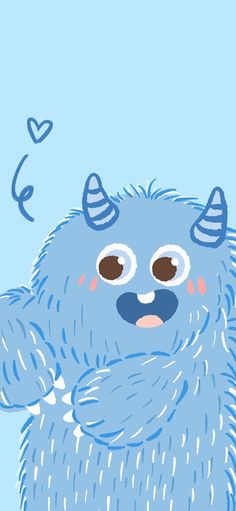 Little monster, cute, fangs, blue Wallpapers for iPhone11, iPhone11 Pro, iPhone 11 Pro Max - Free Wallpaper | Download Free Wallpapers