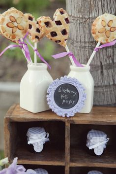 Pie on a stick. WHAAAT?   Photography by brandonkidd.net, Event Design   Planning by belladestinee.com, Floral Design by dolcedesignsstudio.com