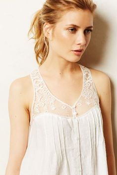 Embroidered Finley Tank - anthropologie.com