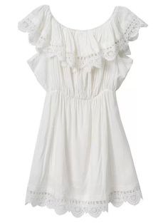 =>>Save Fashion women Elegant Vintage sweet lace white Dress stylish sexy slash neck casual slim beach Summer Sundress vestidos-in Dresses from Women's Clothing Elegant Dresses For Women, Stylish Dresses, Women's Fashion Dresses, Dress Casual, White Off Shoulder Dress, One Sleeve Dress, White Sleeveless Dress, Dress Lace, Lace Ruffle