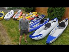 Choosing an inflatable kayak. What promo videos don't talk about - YouTube Kayak Stand, Inflatable Kayak, Kayak Camping, Tandem, Paddle Boarding, Kayaking, Outdoor Adventures, Videos, Trailers