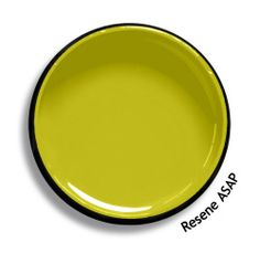 Resene ASAP is a stimulating bite of sour green gold, very dynamic. An undercoat is recommended for the optimum finish. View this and of other colours in Resene's online colour Swatch library Pale Yellow Paints, Yellow Paint Colors, Bedroom Paint Colors, Yellow Painting, Wall Colors, House Colors, Porch Interior, Interior Paint, Interior Ideas