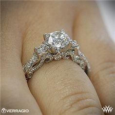 Verragio Braided 3 Stone Engagement Ring LOVE! another almost perfect ring. round but not too round and love the detail and bling