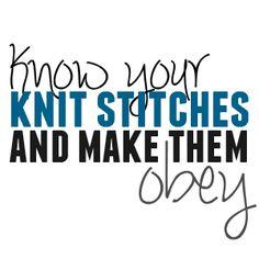 Anatomy of a knit stitch
