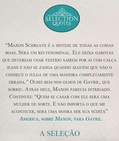 A Seleção Selection Quotes, The Selection, Kiera Cass Books, Good Books, My Books, Famous Books, Coffee And Books, Better One, Fantasy Books