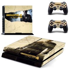 Uncharted 4 Drake Series:Sic Parvis Magna PS4 Skin Stickers For Sony PlayStation 4 Console Skins And Controller Whole Body Cover