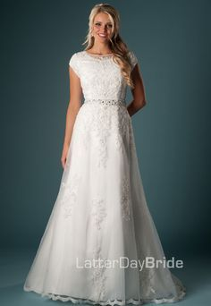 Modest Wedding Dress, Abelardo   LatterDayBride & Prom   best stuff