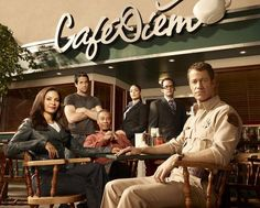Eureka. A quirky, silly show about a government sponsored settlement of scientists in a remote Oregon town, a sort of extended Manhattan project populated with more than its fair share of mad scientists and devices worthy of Wiley Coyote. Set in the same universe as Warehouse 13 and Alphas.